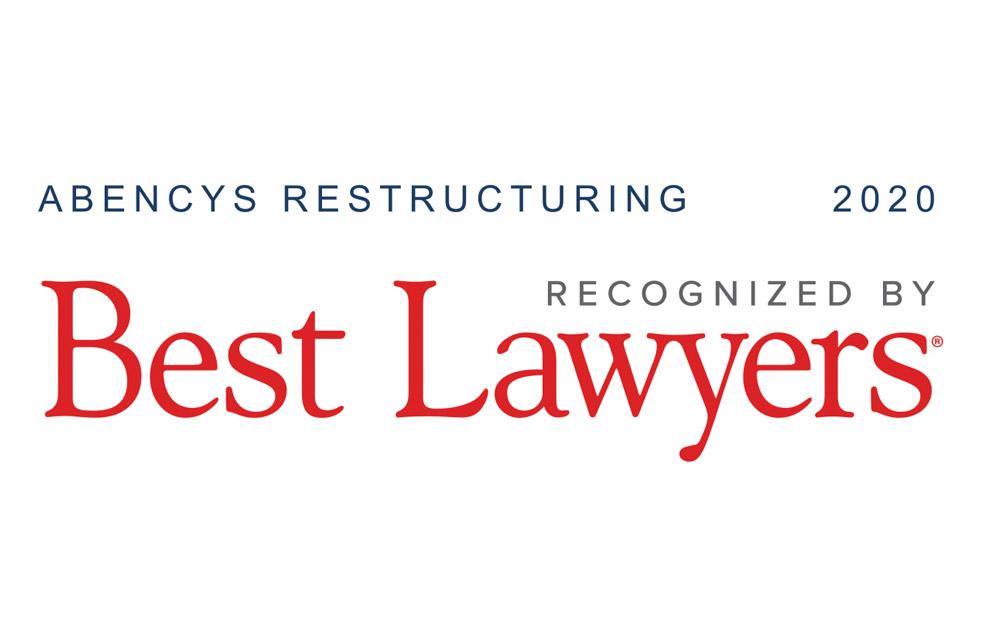 """Dos abogados de ABENCYS han sido seleccionados en Best Lawyers en la categoría de """"Insolvency and Reorganization Law"""""""